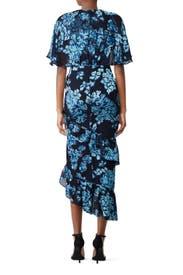 Navy Rose Dress by SALONI