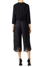 Black Holly Lace Culottes by Diane von Furstenberg