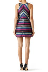 Metallic Jewel Striped Dress by Hutch