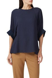 Pindot Shirred Top by Tibi