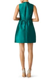 Emerald Satin Belle Dress by Slate & Willow