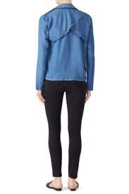 Blue Drape Denim Jacket by Splendid