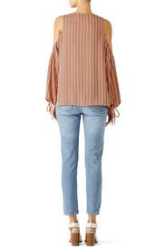 Striped Cold Shoulder Top by L'Academie