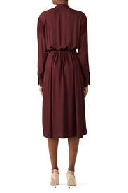 Burgundy Mixed Media Dress by VINCE.