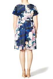 Electric Floral Dress by ELOQUII