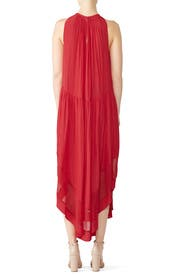 Red Gabrielle Maternity Dress by FOR 2 by Ramy Brook