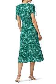 Green Rosalinda Dress by Reformation