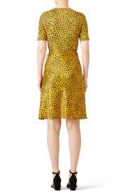 Marigold Flare Wrap Dress by Diane von Furstenberg