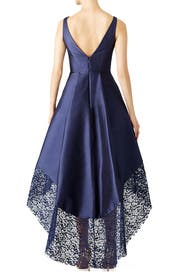 Navy Spiderweb Gown by ML Monique Lhuillier