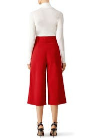 Red Belted Culottes by Tibi