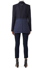 Quilted Combo Blazer by Tibi