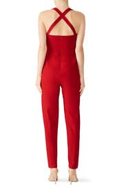 Red Bene Jumpsuit by Black Halo