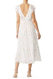 Blush Floral Midi Dress by Hemant & Nandita