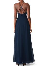 Navy Blue Kayla Gown by Jenny Yoo