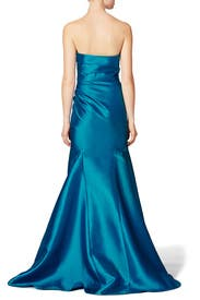Peacock Gown by Badgley Mischka