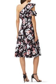 Floral Print One Sleeve Day Dress by Jason Wu Collection