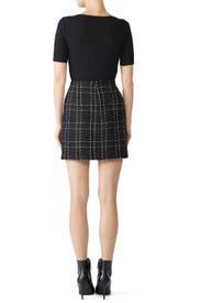 Black Plaid Tweed Skirt by Slate & Willow