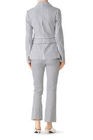Striped Single-Breasted Blazer by Derek Lam 10 Crosby