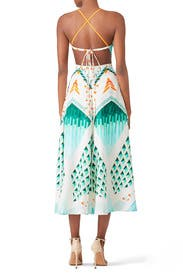 Apreol Sun Shade Faux Wrap Dress by Temperley London
