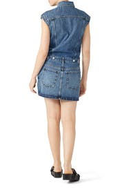 Drawstring Tie Denim Dress by Proenza Schouler White Label