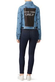 Good Vibes Only Denim Jacket by Samantha Sipos