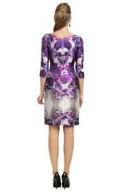 Purple Psychedelic Floral Sheath by Prabal Gurung