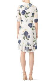 Blue Rose Wrap Dress by Nicholas