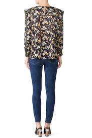 Floral Sleeve Detail Blouse by Derek Lam 10 Crosby