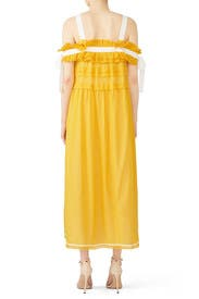 Yellow Ruffled Ribbon Maxi by Philosophy di Lorenzo Serafini