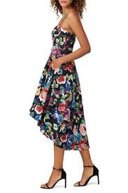 Multi Floral High Low Dress by Aidan AIDAN MATTOX