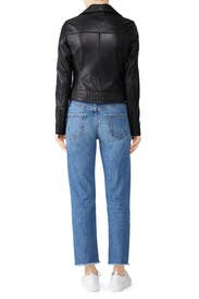 Textured Leather Jacket by Slate & Willow