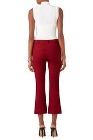 Burgundy Flare Trouser by Derek Lam 10 Crosby