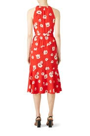 Clay Red Faux Wrap Dress by Derek Lam 10 Crosby