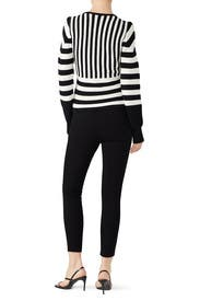 Striped Crossover Sweater by Tome
