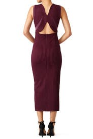 Plum Thalia Puckered Dress by Opening Ceremony