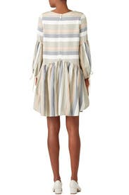 Striped Faro Dress by Paper Crown