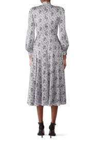 Printed Tie Neck Dress by Co