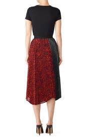 Paneled Asymmetric Pleated Skirt by Clu