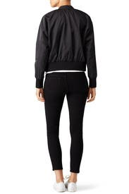 Black Zip Bomber by Free People