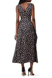 Sleeveless Floral Printed Dress by Self-portrait