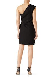 Black One Shoulder Dress by Victoria Victoria Beckham