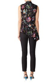 Black Jungle Flower Top by Jason Wu Collection