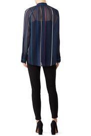 Striped Button Down Top by Derek Lam 10 Crosby