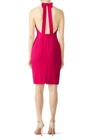 Magenta Bow Back Dress by Badgley Mischka