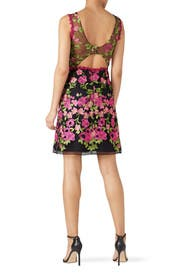 Pink Floral Embroidered Dress by Marchesa Notte