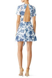 Blue Magnolia Dress by STYLESTALKER