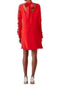 Crimson Open Back Dress by DEREK LAM