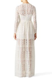 White Angelic Lace Gown by Philosophy di Lorenzo Serafini