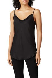 Black Cowl Neck Cami by 7 For All Mankind