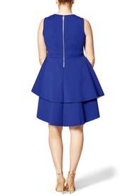 Cobalt Flounce Dress by ELOQUII